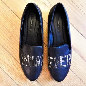 "Forever 21 Black ""Whatever"" Flats Sz 7"